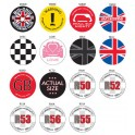 Magnetic Grill Badges